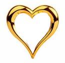 herz in gold