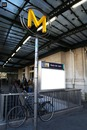 Panneau Station de Métro Gare de Lyon