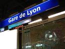 Panneau Station de Métro Gare de Lyon (Météor)