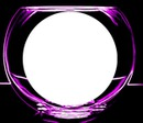 purple neon glow glass bowl