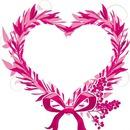 joli coeur rose laly
