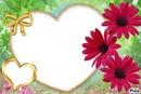 Coeurs avec fleurs