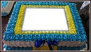 Bolo Delícia, em Azul, Branco e Amarelo! By