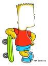 Visage de Bart simpson