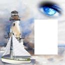 cadre phare avec mer 1 photo