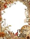 cadre fleuri-vintage-téléphone