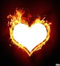 coeur en feu