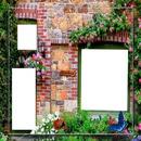 cadre façade fleurie 3 photos