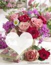 fleurs printemps coeur love fête des mère
