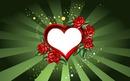coeur avec des roses 1 photo