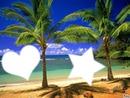 plage ensoleilée