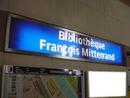 Bibliothèque François Mitterrand Station Métro
