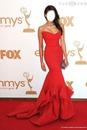 donna karan robe rouge