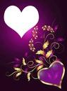 gold & purple hearts