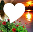 coeur au soleil couchant