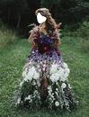traje de flores