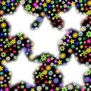 estrellas y flores