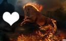 cheval en feux