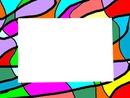 cadre moderne coloré -1 photo