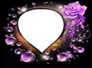 Corazón con burbujas y rosas