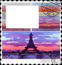cadre timbre tour eiffel