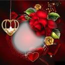 Cc esfera y rosas rojas