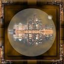 cadre ville marron