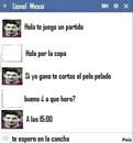 chat falso de messi
