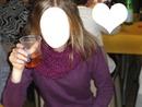 Une fille qui boit