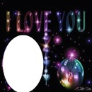 I LOVE YOU  avec un oval 1 photo