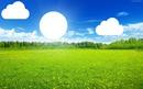 chmury i słońce
