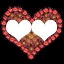 2 coeurs photos dans 1 coeur artifice