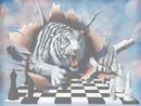 tigre con scacchi dama