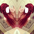 Hair red