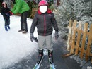 Ski sur la neige