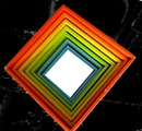 cadre multicolore -carré -une photo