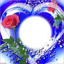 Coeur fond bleu