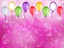 anniversaire ballons fonds rose