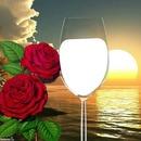 """'rode wijn glas"""""""
