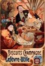 Vintage belle époque ad for biscuits