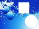 boules noel bleu