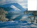 Paysage de montagne avec neige