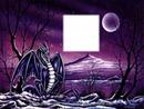Dragon et pleine lune