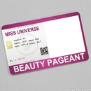 Miss Universe Beauty Pageant Card