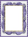 cadre violet et dorure