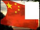 China flag flying