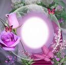 Cc esfera con rosas y mariposas