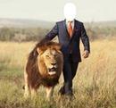 con un leon