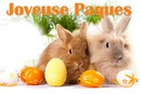 joyeuse paques easter lapin rabbit gothika cadre