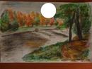 Un paysage d'automne dessiné par Gino GIBILARO avec cercle
